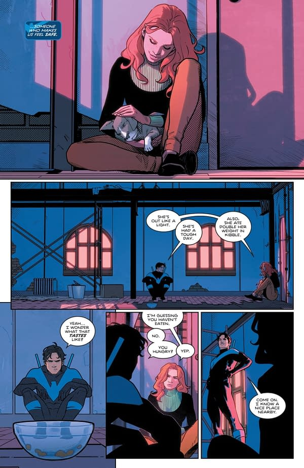An interior preview page from Nightwing #79, by Tom Taylor and Bruno Redondo, in stores on Tuesday, April 20th from DC Comics