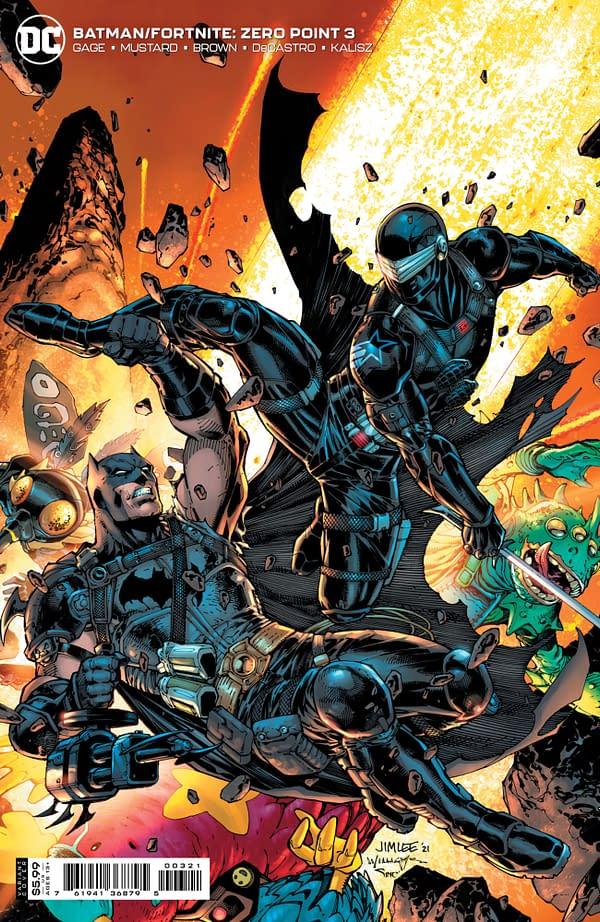 Cover image for BATMAN FORTNITE ZERO POINT #3 (OF 6) CVR B JIM LEE AND SCOTT WILLIAMS  CARD STOCK