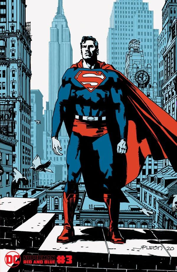Cover image for SUPERMAN RED & BLUE #3 (OF 6) CVR B JOHN PAUL LEON VAR