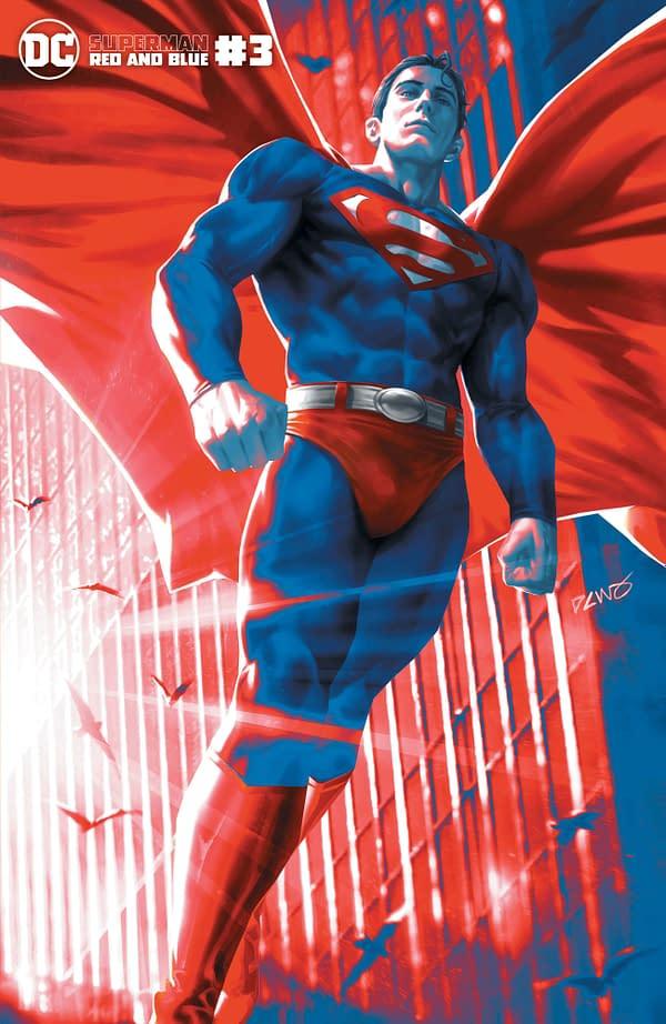 Cover image for SUPERMAN RED & BLUE #3 (OF 6) CVR C DERRICK CHEW VAR