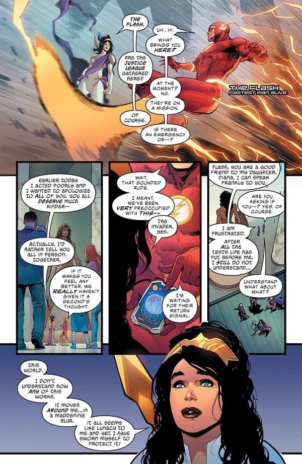 Interior preview page from JUSTICE LEAGUE #62 CVR A DAVID MARQUEZ