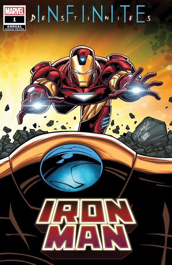 Cover image for IRON MAN ANNUAL #1 RON LIM CONNECTING VAR (RES)