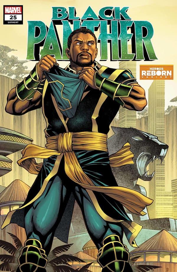 Cover image for BLACK PANTHER #25 REBORN VAR