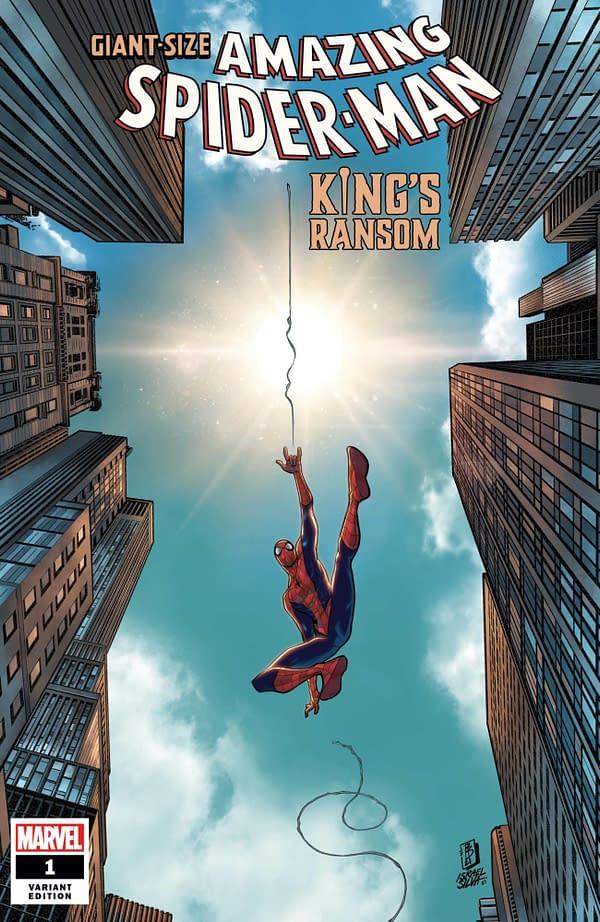 Cover image for GIANT-SIZE AMAZING SPIDER-MAN KINGS RANSOM #1 BALDEON VAR