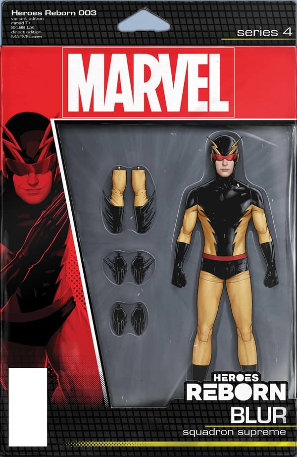 Cover image for HEROES REBORN #3 (OF 7) CHRISTOPHER ACTION FIGURE VAR