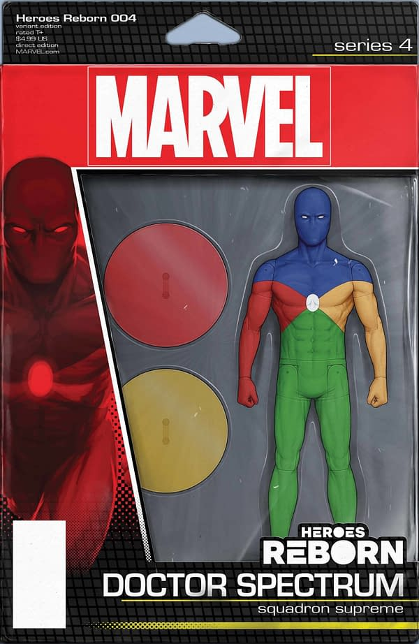 Cover image for HEROES REBORN #4 (OF 7) CHRISTOPHER ACTION FIGURE VAR