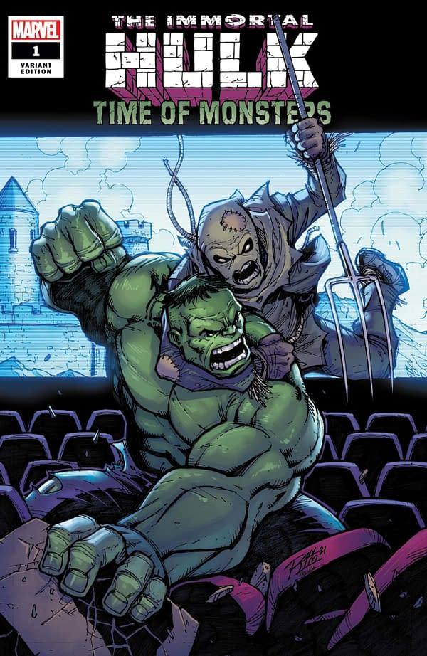Cover image for IMMORTAL HULK TIME OF MONSTERS #1 RON LIM VAR