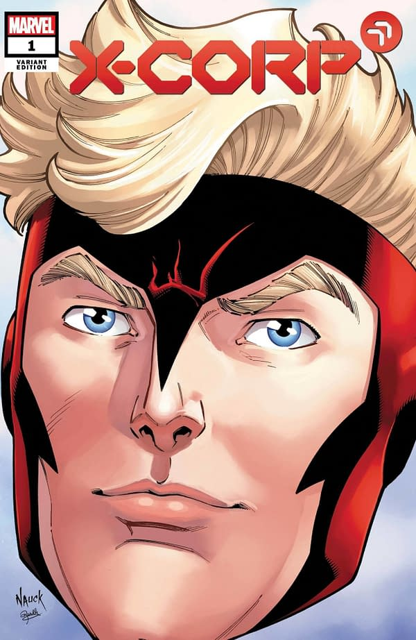 Cover image for X-CORP #1 NAUCK HEADSHOT VAR