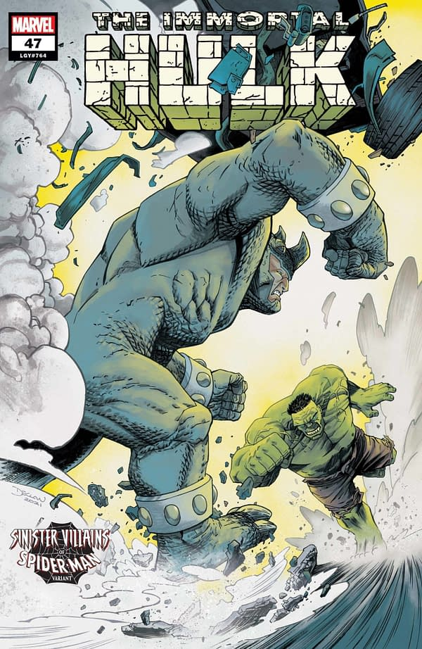 Cover image for IMMORTAL HULK #47 SHALVEY SPIDER-MAN VILLAINS VAR