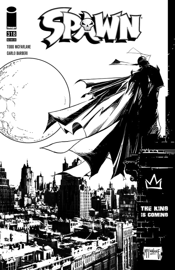 Image Comics Overship Spawn #318 With Black & White  Variant