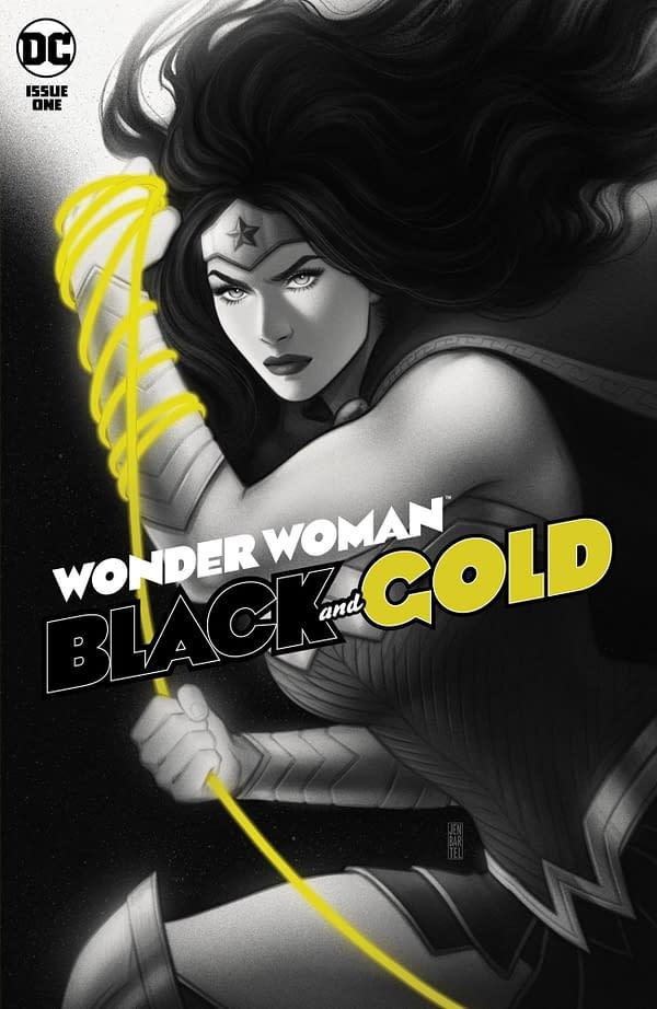 Cover image for WONDER WOMAN BLACK & GOLD #1 (OF 6) CVR A JEN BARTEL