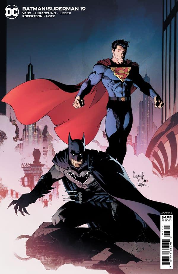 Cover image for BATMAN SUPERMAN #19 CVR B GREG CAPULLO CARD STOCK VAR