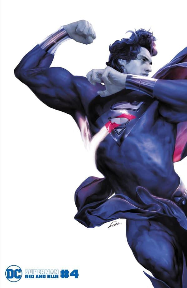 Cover image for SUPERMAN RED & BLUE #4 (OF 6) CVR C ALEXANDER LOZANO VAR