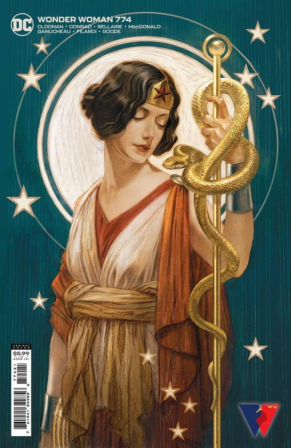 Cover image for WONDER WOMAN #774 CVR B JOSHUA MIDDLETON CARD STOCK VAR