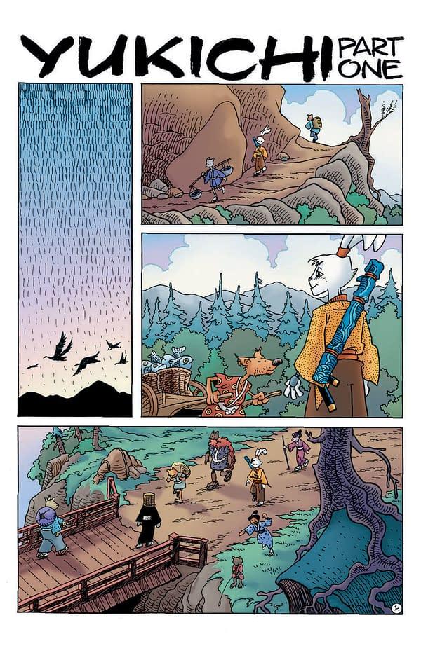 Interior preview page from USAGI YOJIMBO #20
