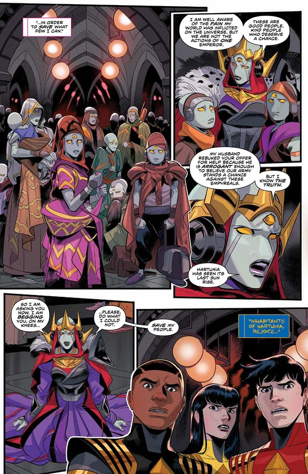 Interior preview page from POWER RANGERS #8 CVR A SCALERA