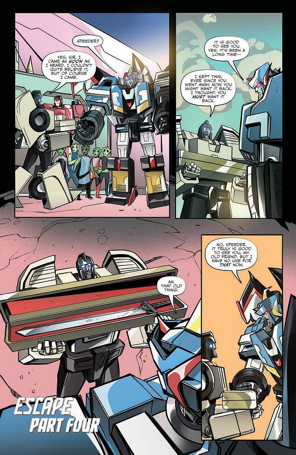Interior preview page from TRANSFORMERS ESCAPE #4 (OF 5) CVR A MCGUIRE-SMITH