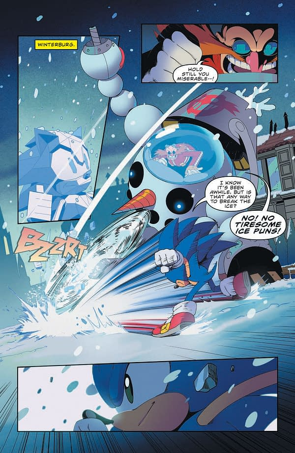Interior preview page from SONIC THE HEDGEHOG #41 CVR A ADAM BRYCE THOMAS