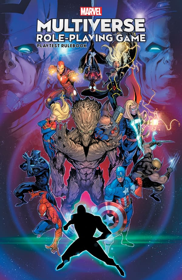A look at the cover for the Marvel Multiverse Role-Playing Game.