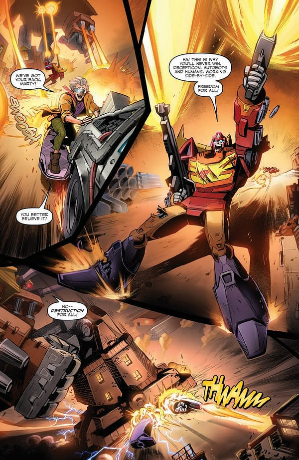 Interior preview page from TRANSFORMERS BACK TO FUTURE #4 (OF 4) CVR A JUAN SAMU