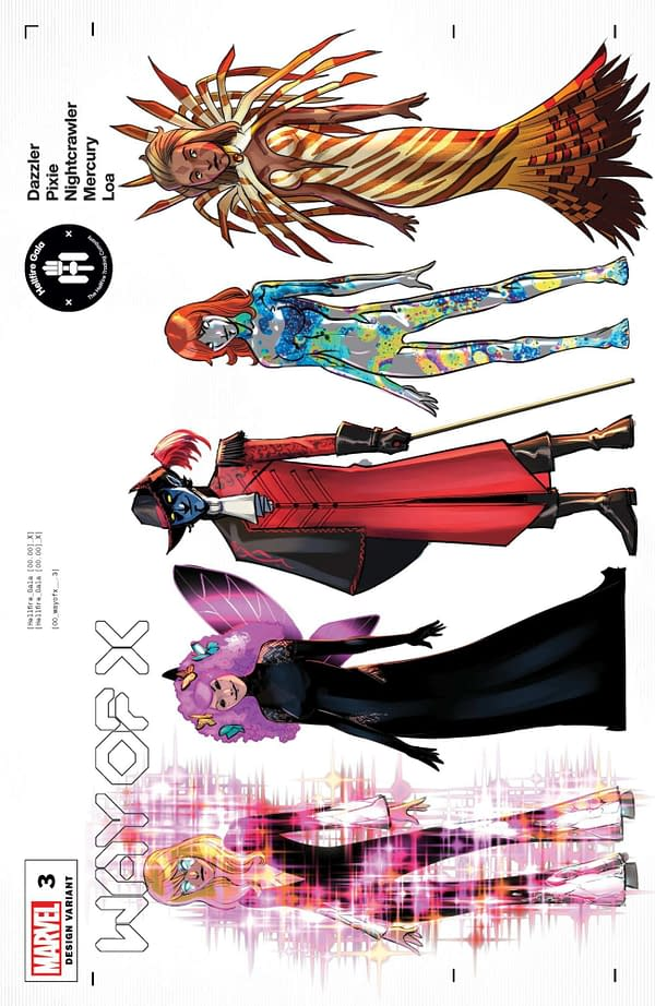Cover image for WAY OF X #3 QUINN CHARACTER DESIGN VAR