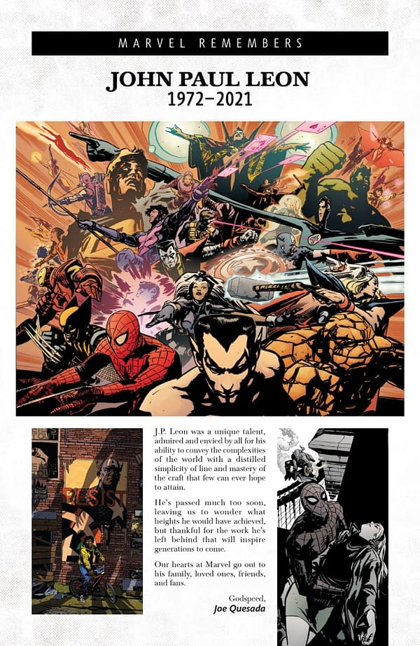 Marvel And DC Comcis Tributes To John Paul Leon