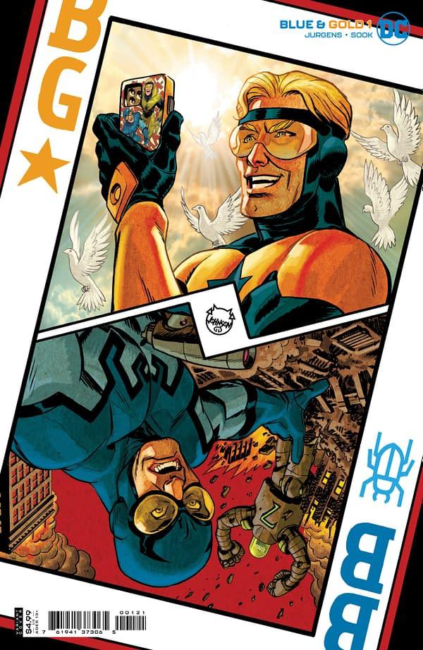 Cover image for BLUE & GOLD #1 (OF 8) CVR B DAVE JOHNSON CARD STOCK VAR