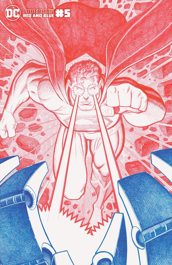 Cover image for SUPERMAN RED & BLUE #5 (OF 6) CVR B ARTHUR ADAMS VAR