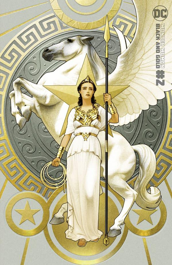 Cover image for WONDER WOMAN BLACK & GOLD #2 (OF 6) CVR B JOSHUA MIDDLETON VAR