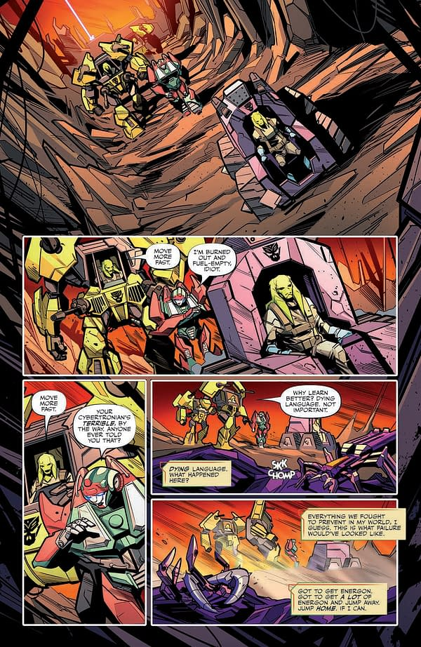 Interior preview page from TRANSFORMERS #32 CVR A DAN SCHOENING