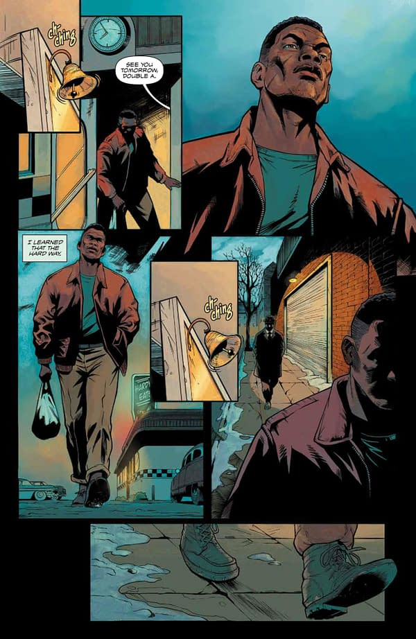 Interior preview page from DARK BLOOD #1 (OF 6) CVR A DE LANDRO