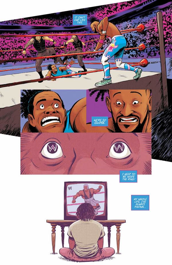 Interior preview page from WWE NEW DAY POWER OF POSITIVITY #1 (OF 2) CVR A BAYLISS