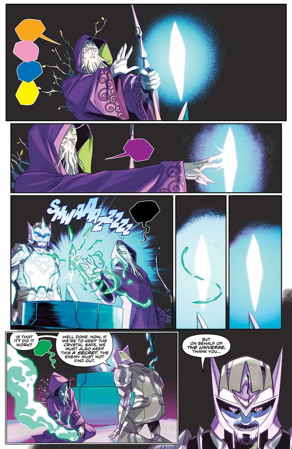 Interior preview page from MIGHTY MORPHIN #9 CVR A LEE