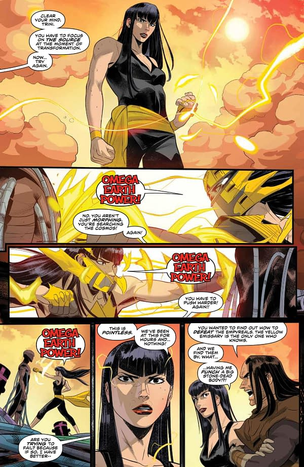 Interior preview page from POWER RANGERS #9 CVR A SCALERA