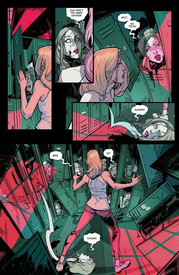Interior preview page from BUFFY THE VAMPIRE SLAYER #27 CVR A FRANY