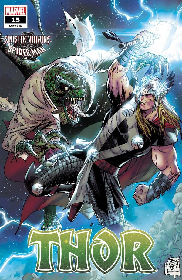 Cover image for THOR # 15 DANIEL SPIDER-MAN VILLAINS VAR