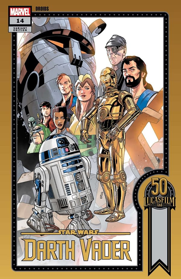 Cover image for STAR WARS DARTH VADER #14 SPROUSE LUCASFILM 50TH VAR WOBH