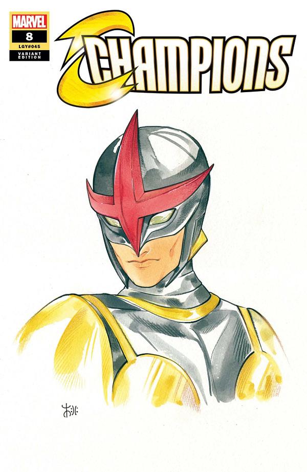 Cover image for CHAMPIONS #8 MOMOKO MARVEL ANIME VAR