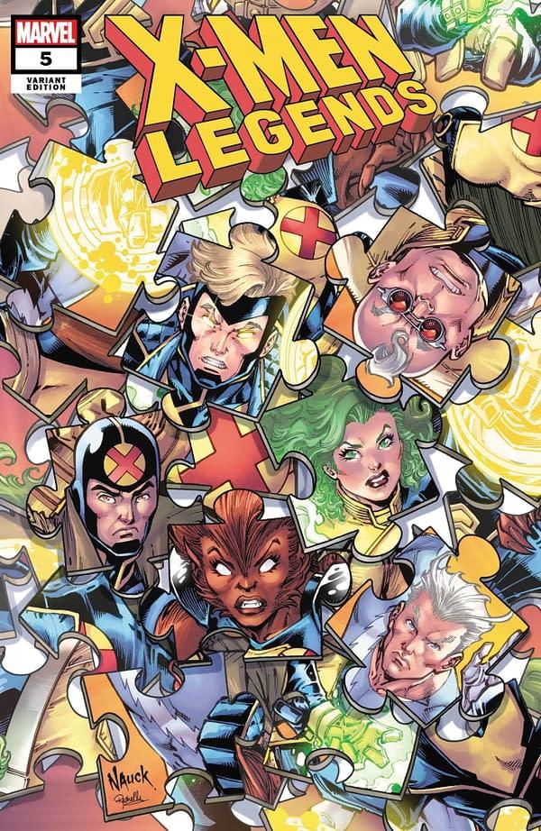 Cover art for X-MEN LEGENDS #5 NAUCK PUZZLE VAR