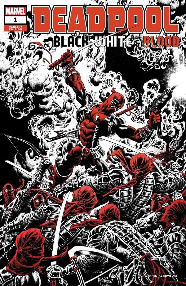 Cover image for DEADPOOL BLACK WHITE BLOOD #1 (OF 5) HOTZ VAR