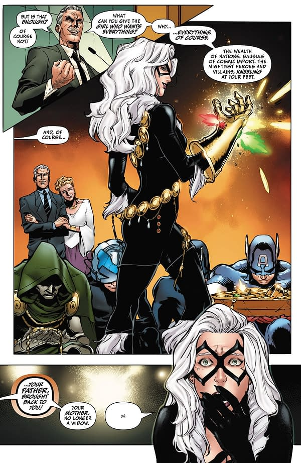 Black Cat's Route To Confronting Thanos With The Infinity Stones