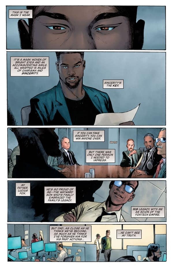 Interior preview page from I AM BATMAN #1 CVR A OLIVIER COIPEL