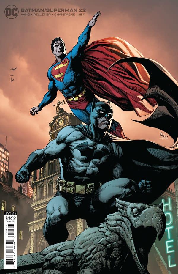 Cover image for BATMAN SUPERMAN #22 CVR B GARY FRANK CARD STOCK VAR