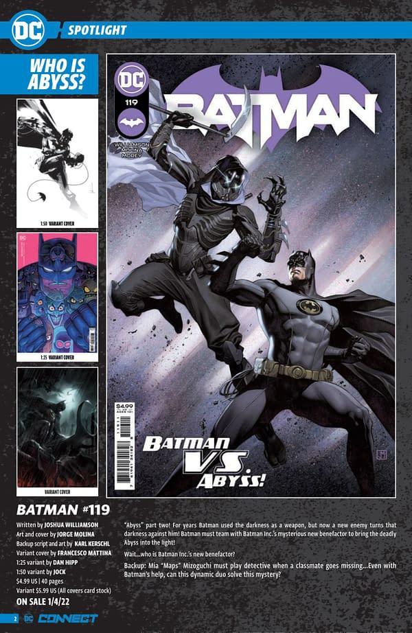 DC Comics December 2021 Solicits & Solicitations In Full