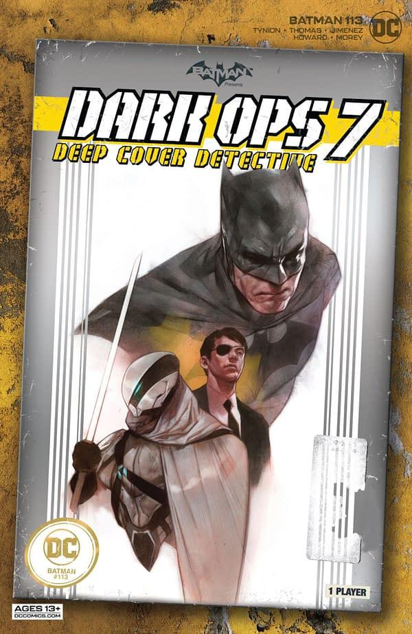 Variant cover for BATMAN #113, by (W) James Tynion IV, Brandon Thomas (A) Jorge Jimenez, Max Dunbar (CA) Jorge Jimenez, in stores Tuesday, September 21, 2021 from DC Comics