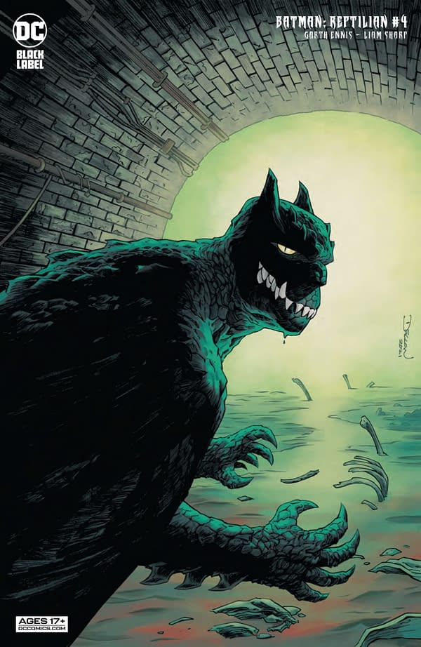 Variant cover for BATMAN REPTILIAN #4 (OF 6), by (W) Garth Ennis (A/CA) Liam Sharp, in stores Tuesday, September 28, 2021 from DC Comics