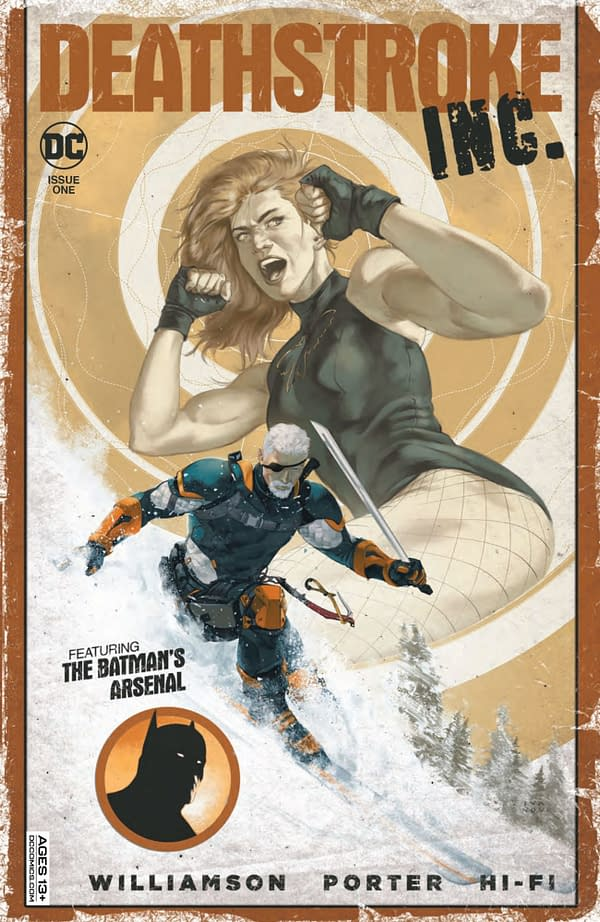 Variant cover for DEATHSTROKE INC #1, by (W) Joshua Williamson (A/CA) Howard Porter, in stores Tuesday, September 28, 2021 from DC Comics