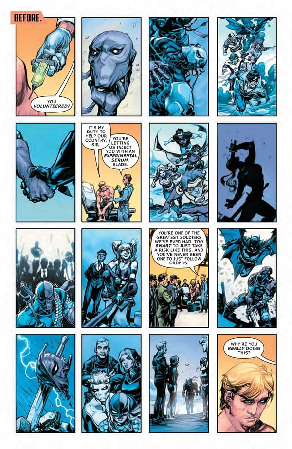 Interior preview page from DEATHSTROKE INC #1 CVR A HOWARD PORTER