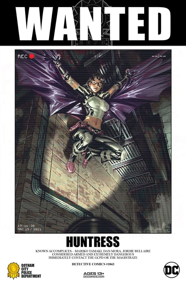Variant cover for DETECTIVE COMICS #1043, by (W) Mariko Tamaki, Matthew Rosenberg (A) Dan Mora, Darick Robertson (CA) Dan Mora, in stores Tuesday, September 28, 2021 from DC Comics