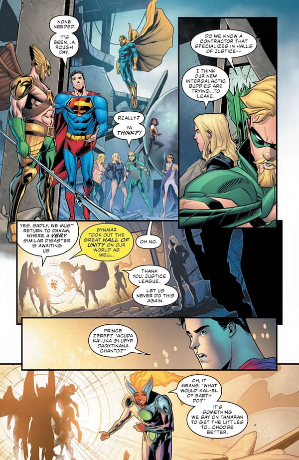 Interior preview page from JUSTICE LEAGUE #68 CVR A DAVID MARQUEZ